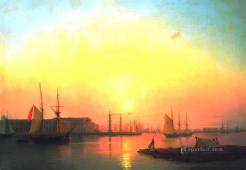 Ivan Aivazovsky exchange of peterburg Seascape Oil Paintings