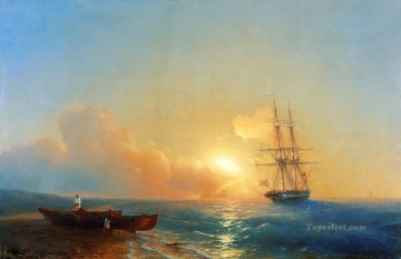 Seascape Painting - Ivan Aivazovsky fishermen on the coast of the sea Seascape