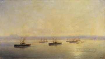 Ivan Aivazovsky fleet in sevastopol Seascape Oil Paintings