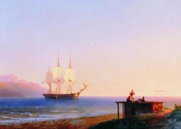 Ivan Aivazovsky frigate under sails 1838 Seascape Oil Paintings