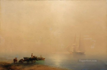 Ivan Aivazovsky misty morning Seascape Oil Paintings