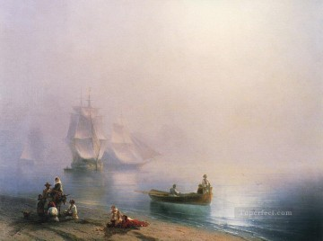 Ivan Aivazovsky morning in the bay of naples Seascape Oil Paintings
