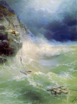 Seascape Painting - Ivan Aivazovsky surf survivor Ocean Waves