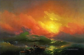 Ivan Aivazovsky the ninth wave Seascape Oil Paintings