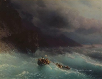 Seascape Painting - Ivan Aivazovsky the shipwreck on black sea Seascape