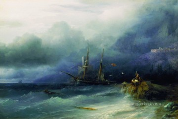 Seascape Painting - Ivan Aivazovsky the tempest Seascape