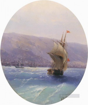 Seascape Painting - Ivan Aivazovsky view of crimea Seascape