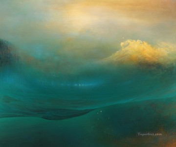 Seascape Painting - wave abstract seascape