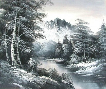 Free Painting - South View of the Mountain Bob Ross freehand landscapes