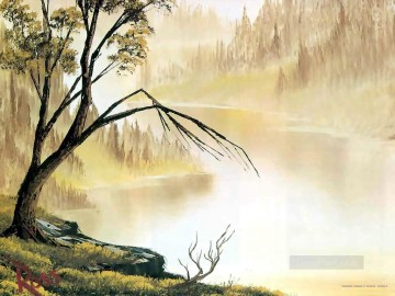 Free Painting - distant hills Bob Ross freehand landscapes