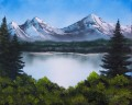mountainscape Bob Ross freehand landscapes