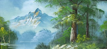 woods Bob Ross freehand landscapes Oil Paintings