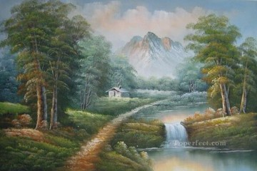 Cheap Vivid Freehand 02 Bob Ross Landscape Oil Paintings