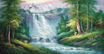 Cheap Vivid Freehand 07 Bob Ross Landscape Oil Paintings