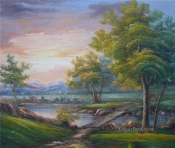 Cheap Vivid Freehand 08 Bob Ross Landscape Oil Paintings
