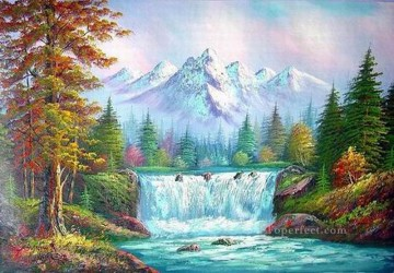 Cheap Vivid Freehand 11 Bob Ross Landscape Oil Paintings