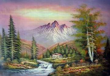 Cheap Vivid Freehand 14 Bob Ross Landscape Oil Paintings