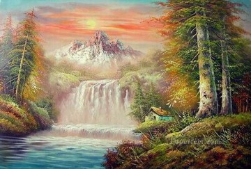 Cheap Vivid Freehand 16 Bob Ross Landscape Oil Paintings