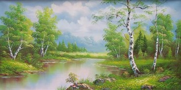 Cheap Vivid Freehand 21 Bob Ross Landscape Oil Paintings