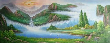 Chinese Mountains Bob Ross Landscape Oil Paintings