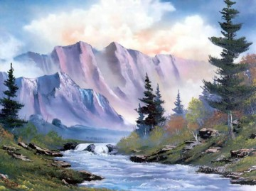Purple Mountains Bob Ross Landscape Oil Paintings