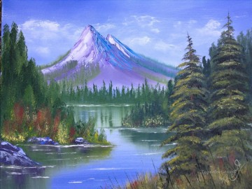 Sierra Mountains Bob Ross freehand landscapes Oil Paintings