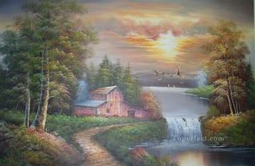 Vivid Freehand 03 Bob Ross Landscape Oil Paintings