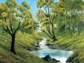 bubbling stream Bob Ross freehand landscapes