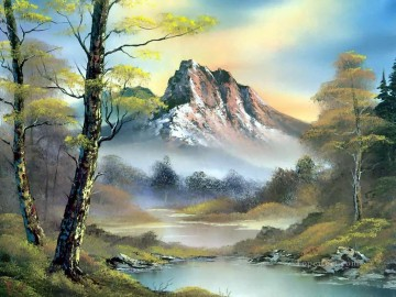 mountain 2 Bob Ross freehand landscapes Oil Paintings
