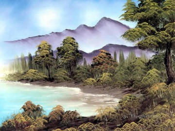 quiet inlet Bob Ross freehand landscapes Oil Paintings
