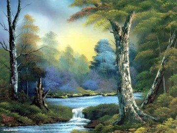 water Bob Ross freehand landscapes Oil Paintings