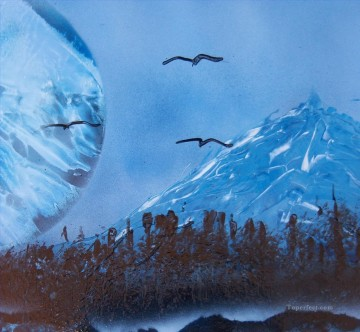 Spray paint art Painting - Rocky Mountain Morning  sprying