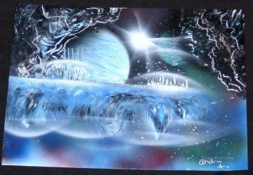 Spray paint art Painting - spray art 34