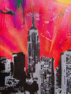 Spray paint art Painting - spray paint stencil graffit
