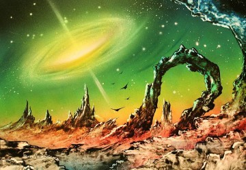 Spray paint art Painting - outer eye galaxy tony vegas