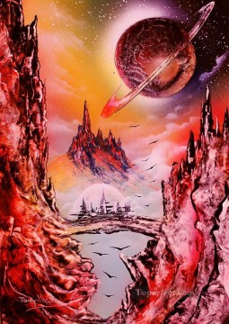 Spray paint art Painting - view to saturn tony vegas