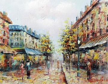 sy002hc street scene cheap Oil Paintings