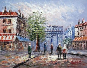 sy003hc street scene cheap Oil Paintings