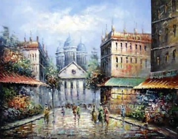 sy020hc street scene cheap Oil Paintings