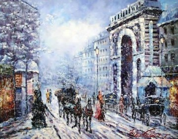 sy022hc street scene cheap Oil Paintings