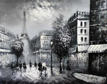 sy029hc street scene cheap Oil Paintings