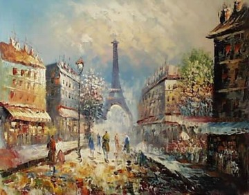 sy032hc street scene cheap Oil Paintings