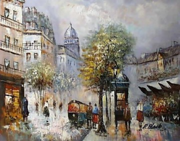 sy039hc street scenes cheap Oil Paintings