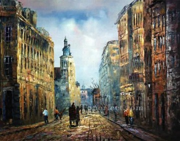 sy044hc street scenes cheap Oil Paintings