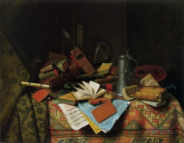 A Study Table William Harnett still life Oil Paintings
