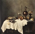 Breakfast Of Crab still lifes Willem Claeszoon Heda