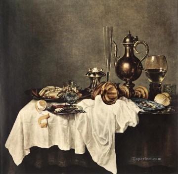 Breakfast Of Crab still lifes Willem Claeszoon Heda Oil Paintings