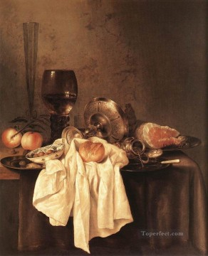 Still Life 1651 Willem Claeszoon Heda Oil Paintings