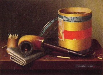 Still life Painting - Still Life 1877 William Harnett