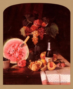 Classic Still Life Painting - Still Life With Watermelon impressionism William Merritt Chase